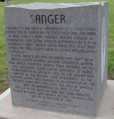 Sanger Marker image. Click for full size.