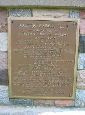 Walter March Ellis Marker image. Click for full size.