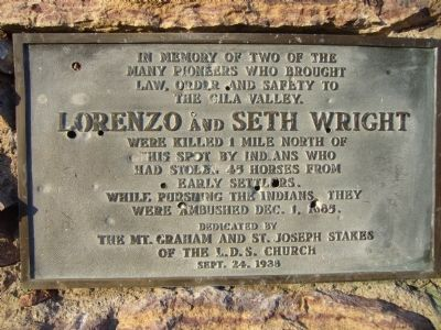 In Memory of Lorenzo and Seth Wright Marker image. Click for full size.