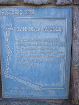 Railroad Avenue Marker image. Click for full size.