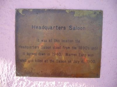 Headquarters Saloon Marker image. Click for full size.