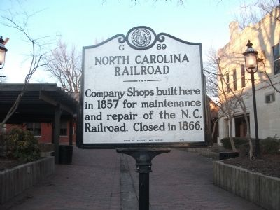 North Carolina Railroad Marker at the Historic Depot image. Click for full size.
