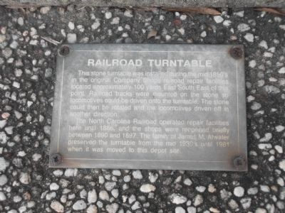 Railroad Turntable Plaque image. Click for full size.