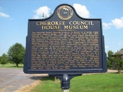 Cherokee Council House Museum Marker image. Click for full size.
