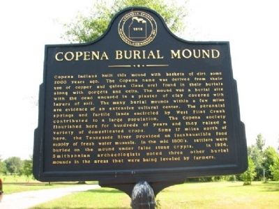 Copena Burial Mound Marker image. Click for full size.