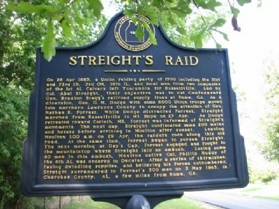 Streight's Raid Marker image. Click for full size.