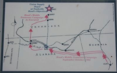 Hood's Middle Tennessee Campaign as Executed image. Click for full size.
