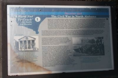 Decatur and The Civil War in North Alabama Marker image. Click for full size.