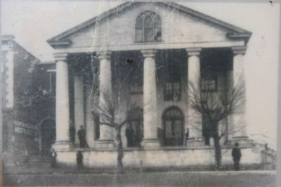 Old State Bank approximately 1900 image. Click for full size.