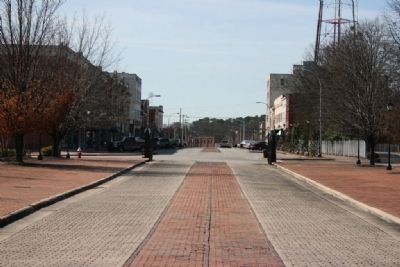 Old Downtown Decatur Looking Southwest Along Bank Street from the Old State Bank. image. Click for full size.