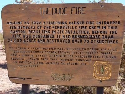 The Dude Fire Marker image. Click for full size.