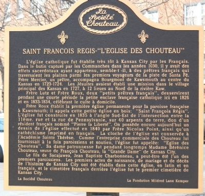 Chouteau's Church (St. Francis Regis) Marker image. Click for full size.