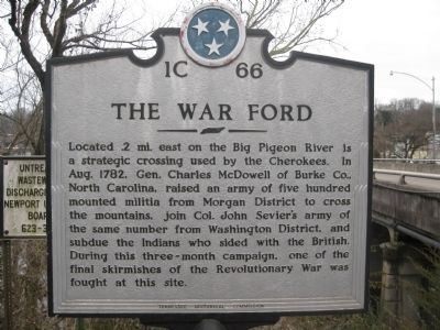 The War Ford Marker image. Click for full size.