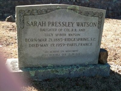 Sarah Pressley Watson's Grave image. Click for full size.