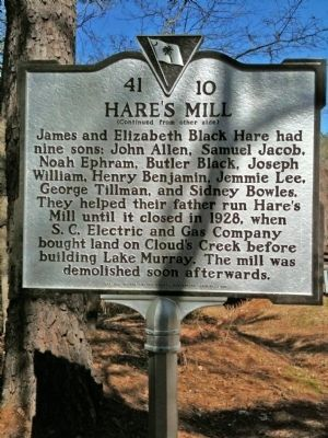 Hare's Mill Marker (reverse) image. Click for full size.