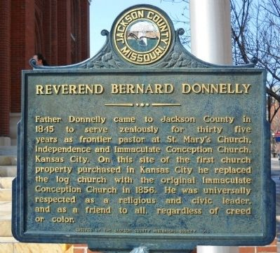 Reverend Bernard Donnelly Marker image. Click for full size.