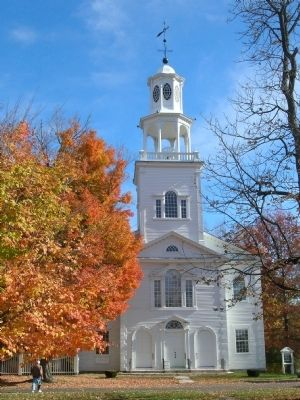Vermont's Colonial Shrine in Autumn image. Click for full size.
