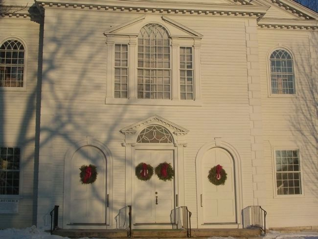 Vermont's Colonial Shrine - Front Detail image. Click for full size.