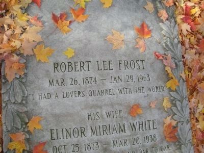 Robert Frost, 1958 Poet Laureate Consultant in Poetry to the Library of Congress image. Click for full size.