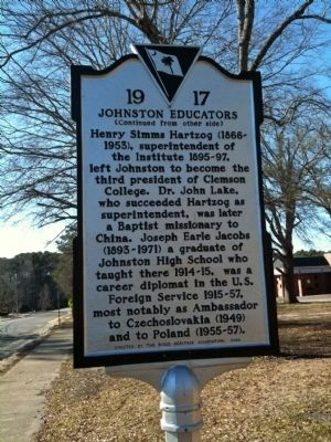 Johnston Schools / Johnston Educators Marker (reverse) image. Click for full size.