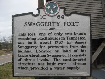 Swaggerty Fort Marker image. Click for full size.