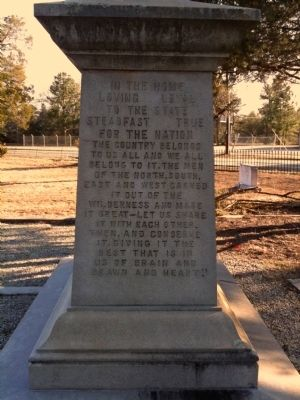 Ben Tillman's Head Stone (right side) image. Click for full size.