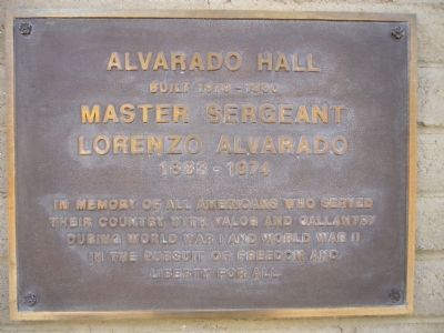Alvarado Hall Marker image. Click for full size.