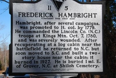 Frederick Hambright Marker image, Touch for more information