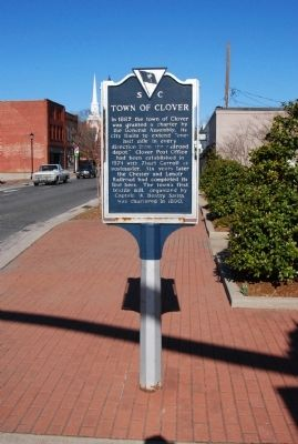 Town of Clover Marker image. Click for full size.