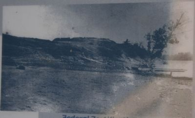 Federal Fortifications seen from Tennessee River image. Click for full size.