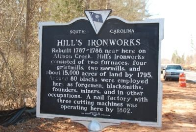 WILLIAM HILL (1741-1816) / HILL'S IRONWORKS Marker image. Click for full size.