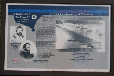 """a place of importance"" - Union Leadership at Decatur Marker image. Click for full size."