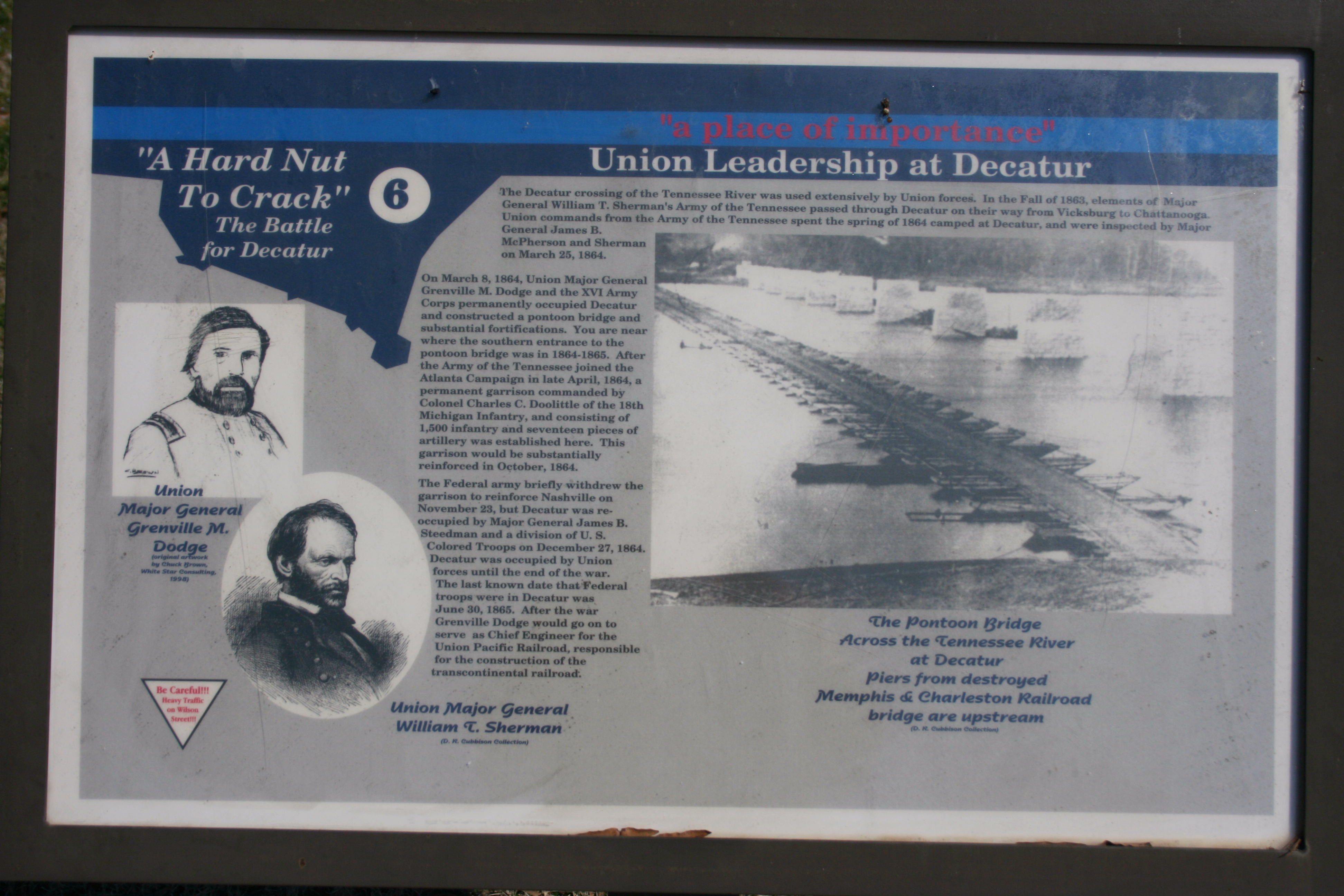 """a place of importance"" - Union Leadership at Decatur Marker"