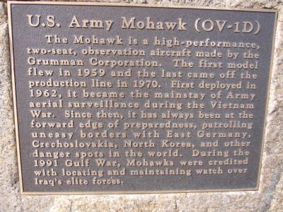 U. S. Army Mohawk (OV -1D) Marker image. Click for full size.