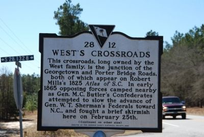 West's Crossroads / Donald H. Holland House Marker image. Click for full size.