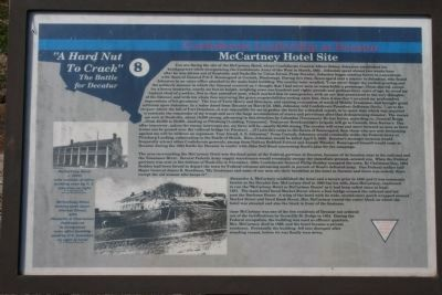 Confederate Leadership at Decatur - McCartney Hotel Site Marker image. Click for full size.