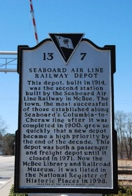 Seaboard Air Line Railway Depot Marker image. Click for full size.