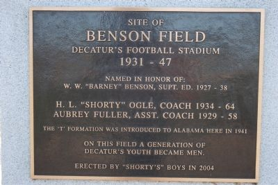 Site of Benson Field Marker image. Click for full size.
