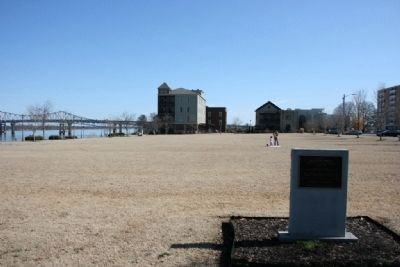 Site of Benson Field & Marker image. Click for full size.