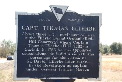 Cash Homesite / Capt. Thomas Ellerbe Marker image. Click for full size.