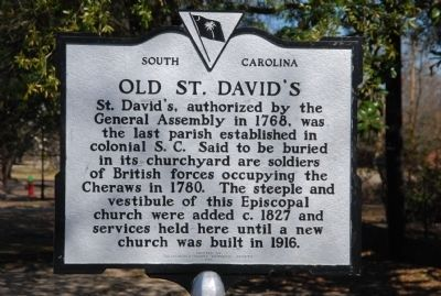 Old St. David's Marker image. Click for full size.