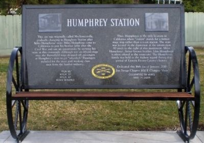Humphrey Station Marker image. Click for full size.