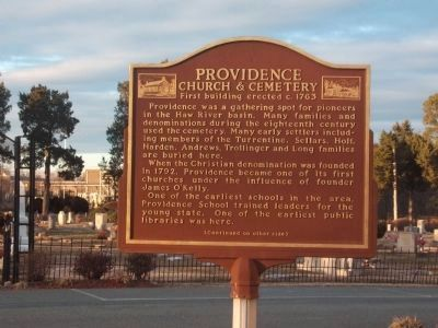 Providence Church & Cemetery Marker - Side A image. Click for full size.