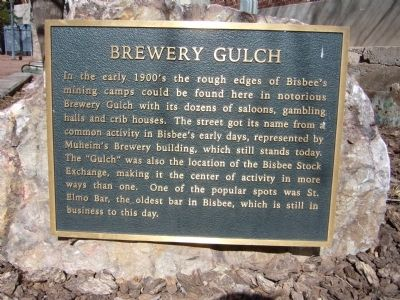 Brewery Gulch Marker image. Click for full size.