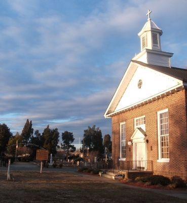 Providence Christian Church Erected 1763 image. Click for full size.
