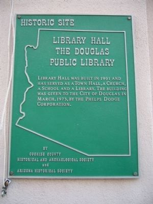 Library Hall the Douglas Public Library Marker image. Click for full size.