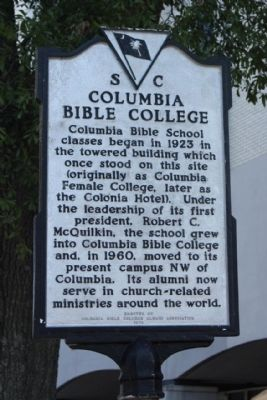 Columbia Bible College Marker image. Click for full size.