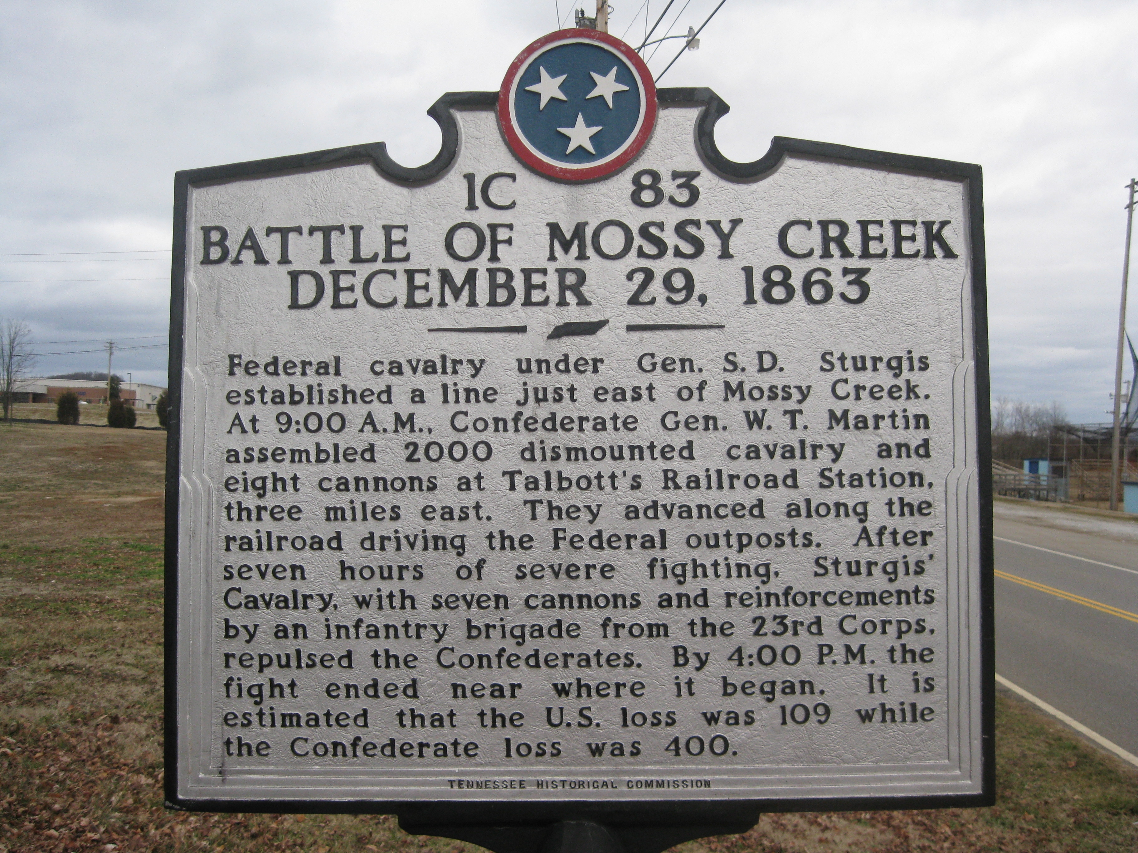 Battle of Mossy Creek Marker