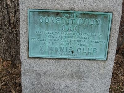 Constitution Oak Marker image. Click for full size.