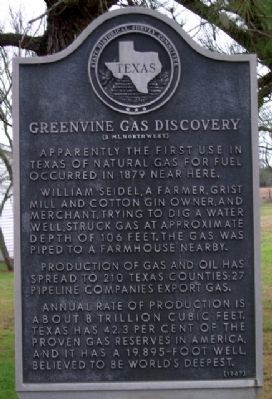 Greenvine Gas Discovery Marker image. Click for full size.